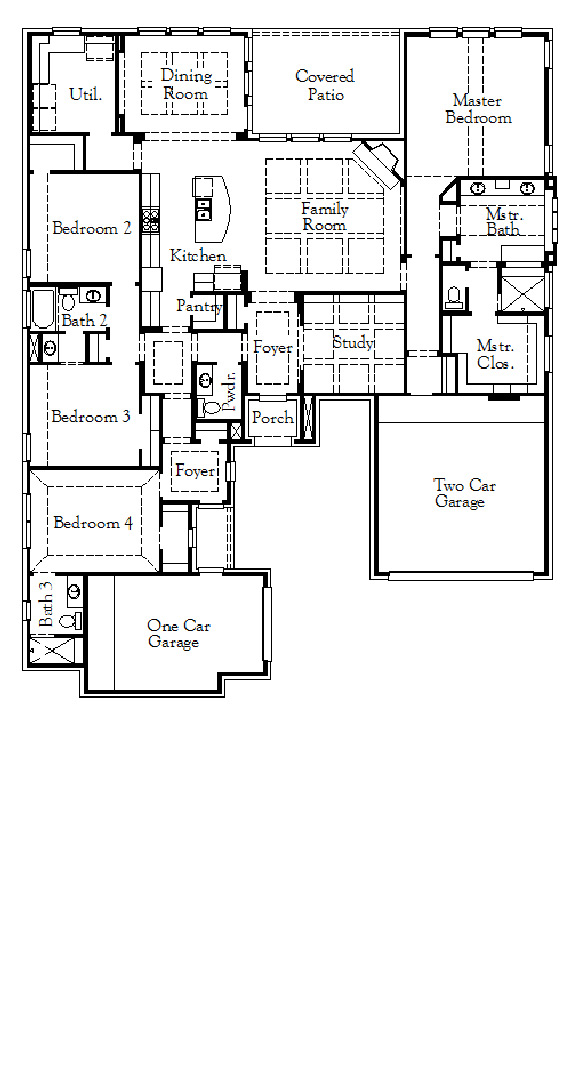 Coventry Home Plan 2840 Floorplan in Hollyhock