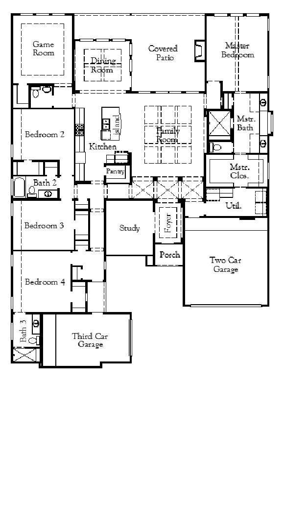 Coventry Home Plan 3163 Floorplan in Hollyhock