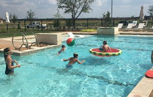 Hollyhock pool party for residents