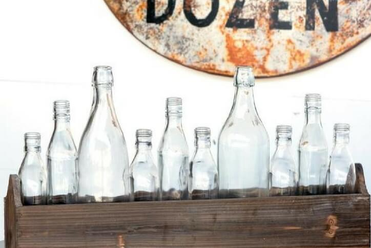 Boxcar House Bottle Centerpiece