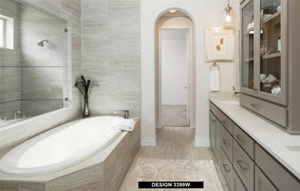 Perry Homes Model Master Bath in Hollyhock