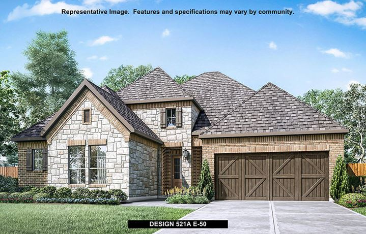 Britton Homes in Hollyhock New Home Exterior Option Plan 521A