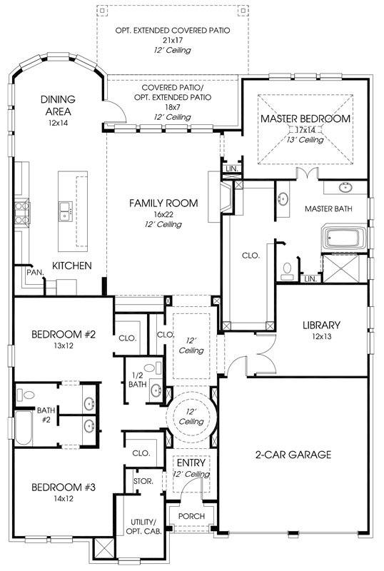 Britton Homes Hollyhock Floor Plan 518A Design