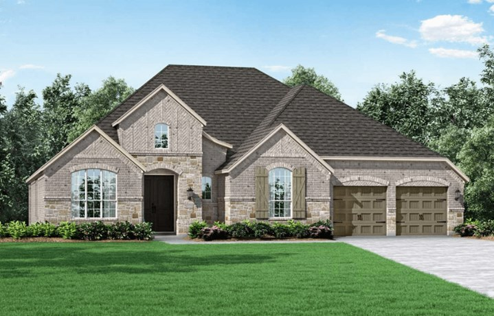 Highland Homes Plan 273 Elevation A in Hollyhock