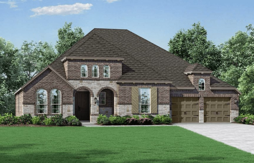 Highland Homes Plan 273 Elevation B in Hollyhock