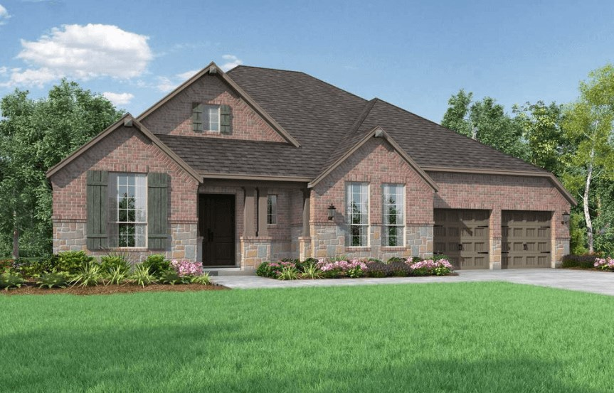 Highland Homes Plan 273 Elevation C in Hollyhock