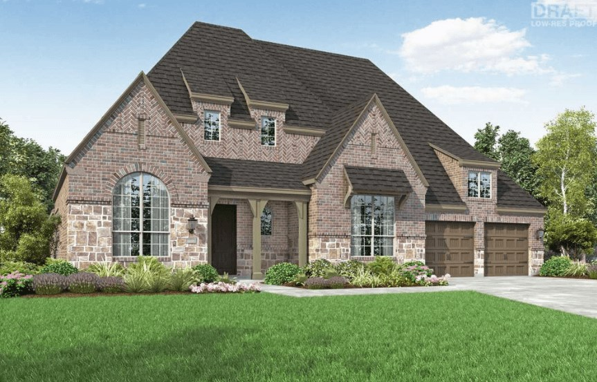 Highland Homes Plan 273 Elevation D in Hollyhock