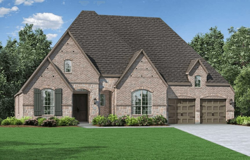 Highland Homes Plan 273 Elevation E in Hollyhock