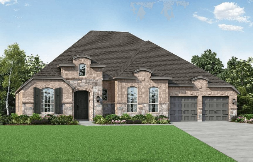 Highland Homes Plan 273 Elevation L in Hollyhock