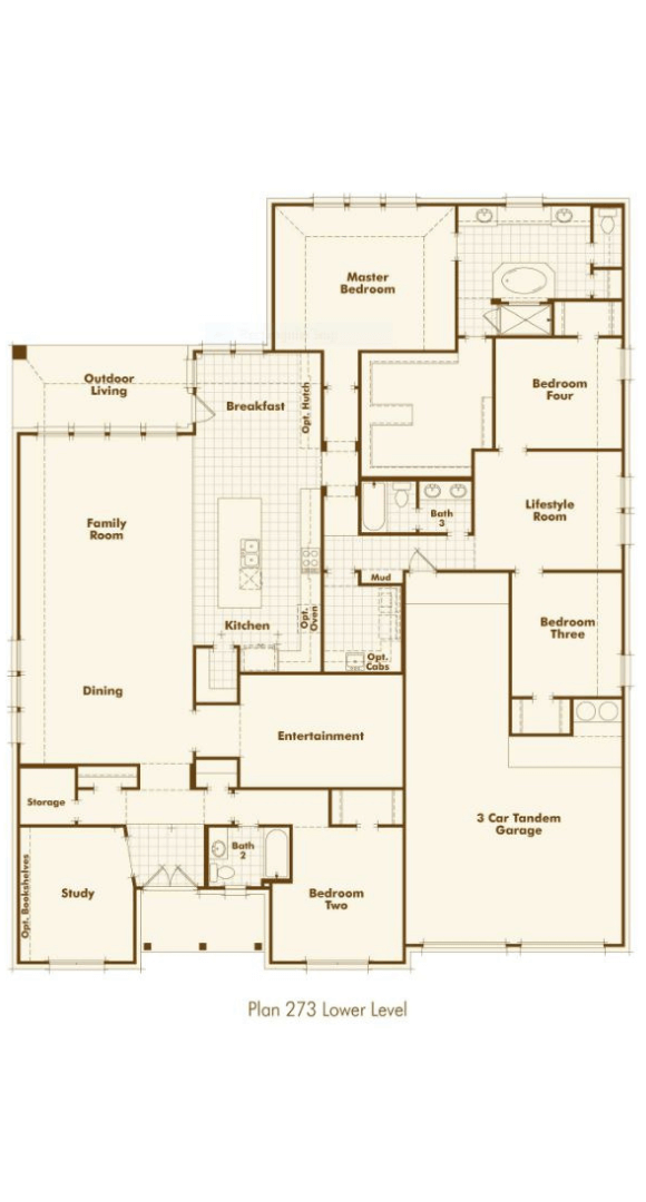 Highland Homes Plan 273 Floorplan in Hollyhock
