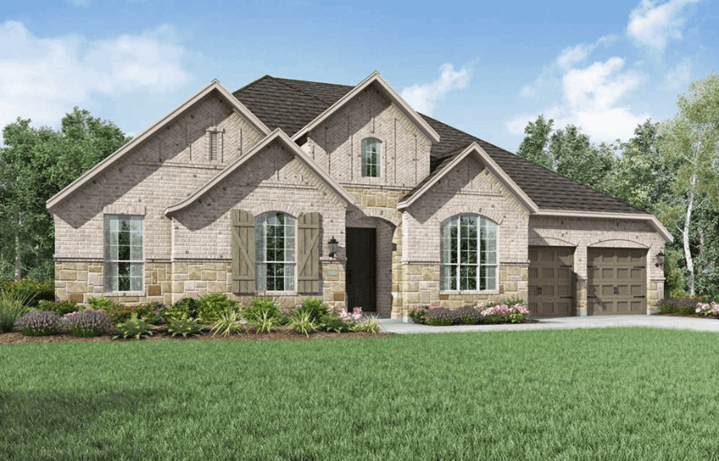 Highland Homes Plan 274 Elevation A in Hollyhock