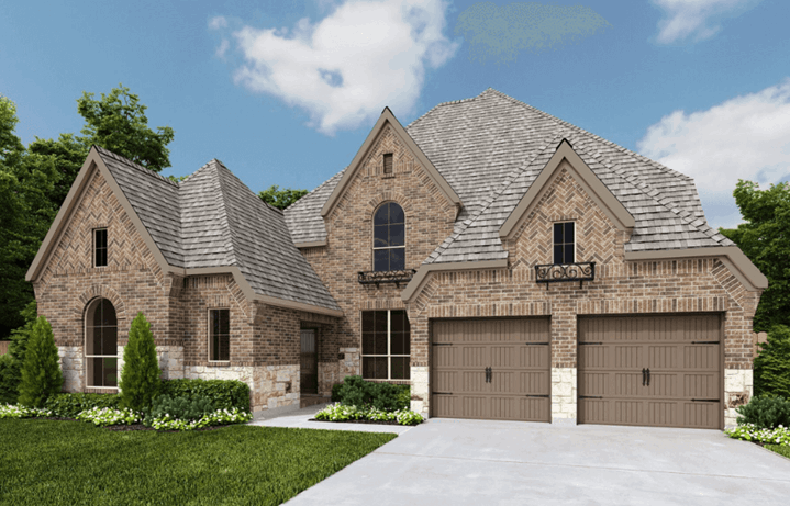 Perry Homes Plan 3496W Elev E50 in Hollyhock