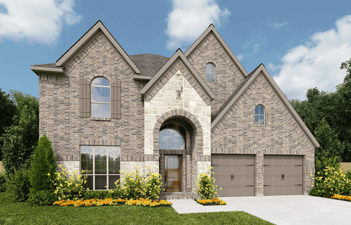 Perry Homes Plan 3392 Elevation E50 in Hollyhock