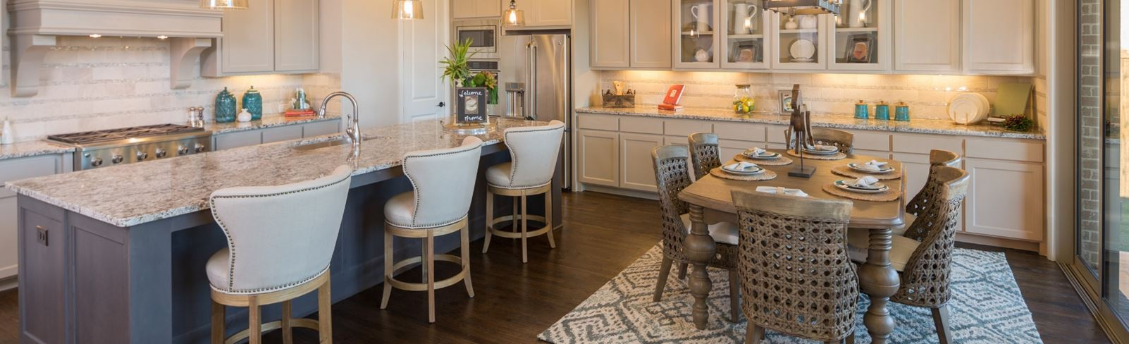 Britton Homes Model Kitchen in Hollyhock in Frisco, TX