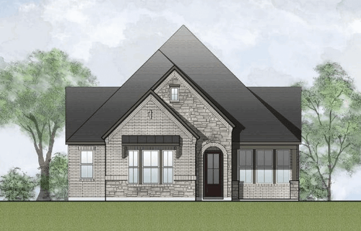 Drees Homes Plan Ridgeleigh Elevation in Hollyhock