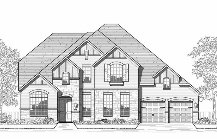Highland Homes Plan 277 Elevation A in Hollyhock