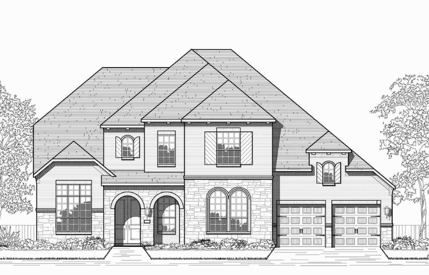 Highland Homes Plan 277 Elevation B in Hollyhock