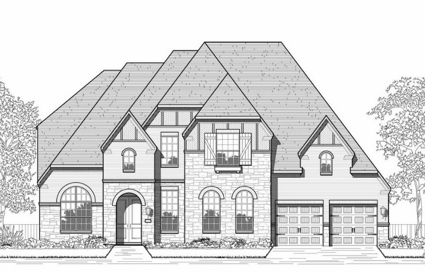 Highland Homes Plan 277 Elevation D in Hollyhock