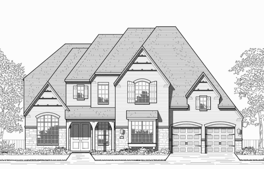 Highland Homes Plan 277 Elevation E in Hollyhock
