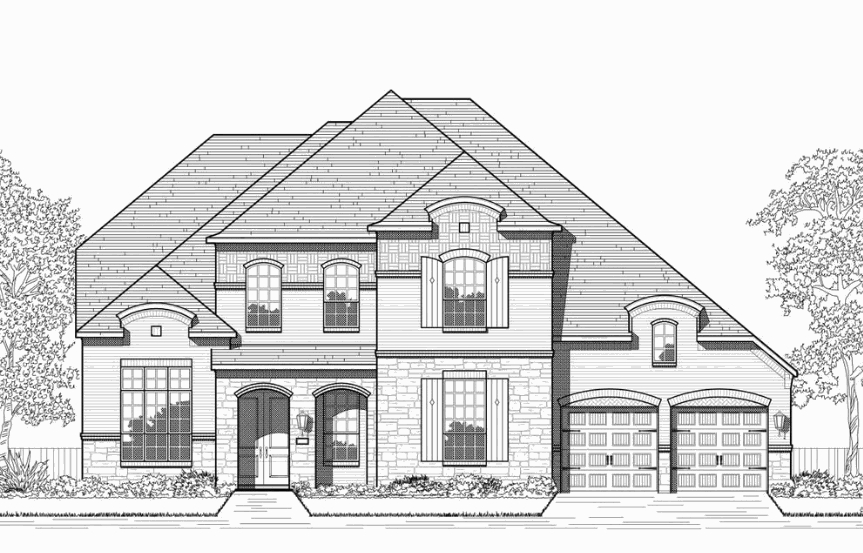 Highland Homes Plan 277 Elevation L in Hollyhock