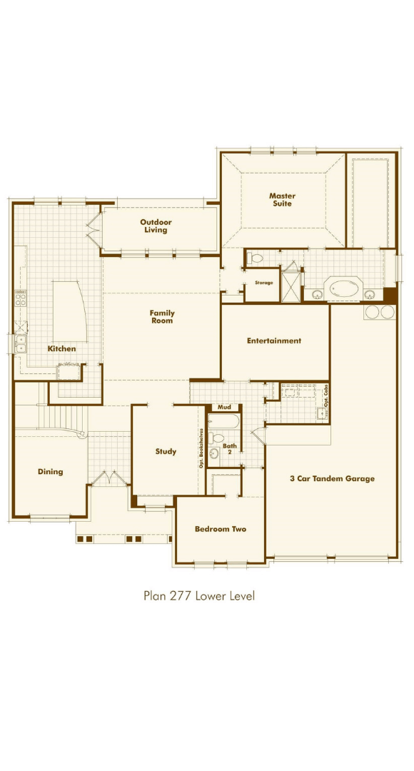 Highland Homes Plan 277 Floorplan 1 in Hollyhock