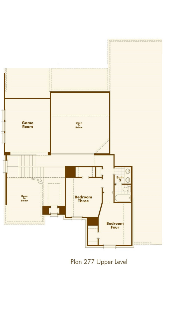 Highland Homes Plan 277 Floorplan 2 in Hollyhock