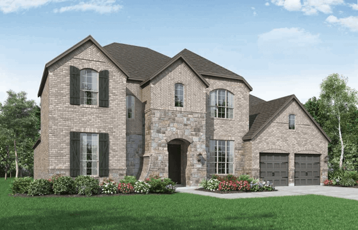 Highland Homes Plan 279 Elevation A in Hollyhock