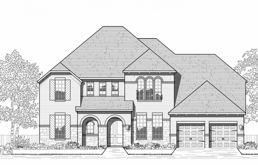 Highland Homes Plan 279 Elevation B in Hollyhock