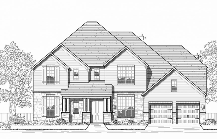 Highland Homes Plan 279 Elevation C in Hollyhock