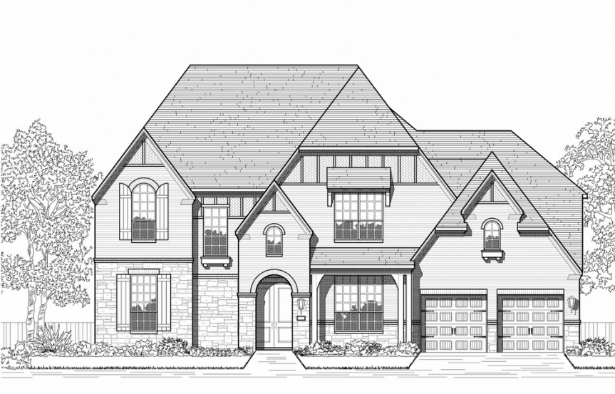 Highland Homes Plan 279 Elevation D in Hollyhock