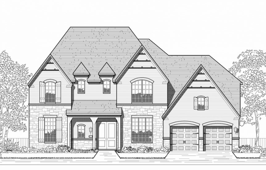Highland Homes Plan 279 Elevation E in Hollyhock