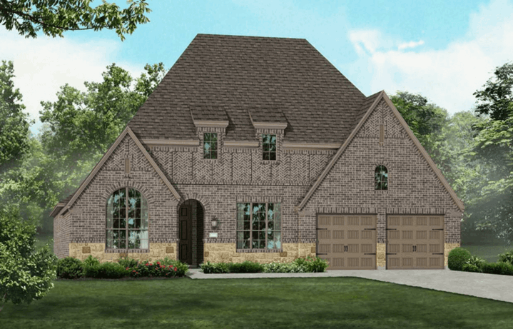 Highland Homes Plan 200 Elevation D in Hollyhock
