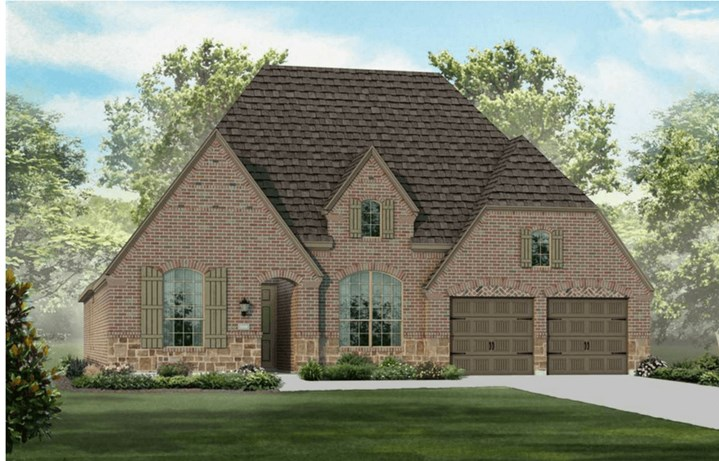 Highland Homes Plan 200 Elevation E in Hollyhock