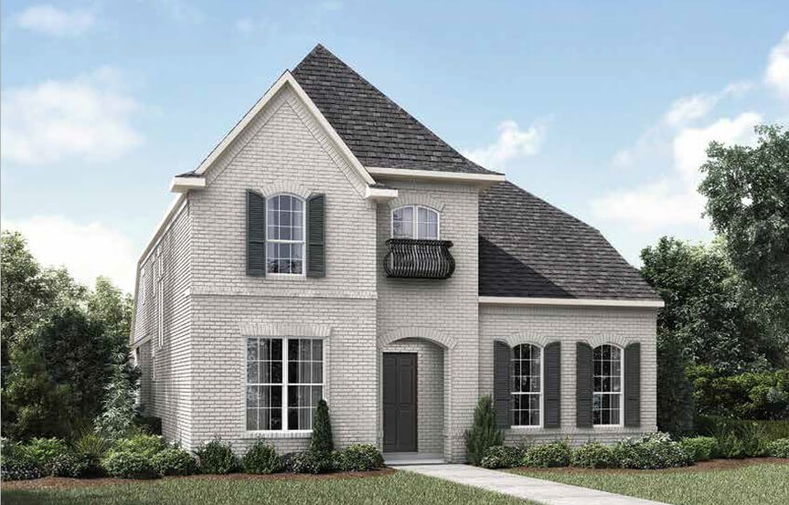 Drees Homes Marigold Elevation B Marigold in Hollyhock