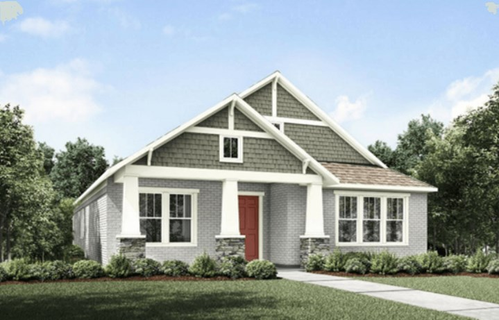 Drees Homes Plan Ambrosia Elevation A in Hollyhock