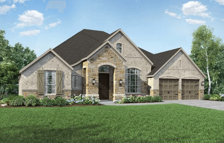Highland Homes Plan 272 Elevation A in Hollyhock