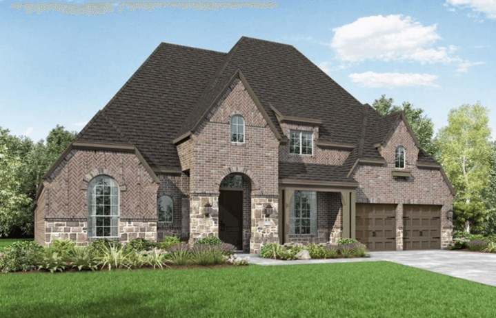 Highland Homes Plan 272 Elevation D in Hollyhock