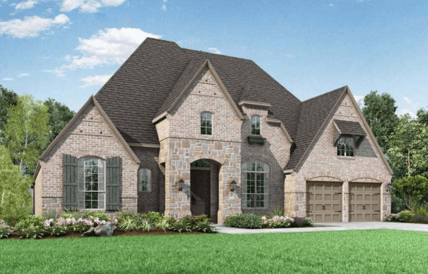 Highland Homes Plan 272 Elevation E in Hollyhock