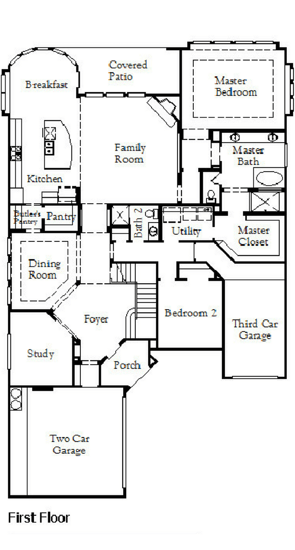Coventry Homes Plan 3767 Floorplan 1 in Hollyhock