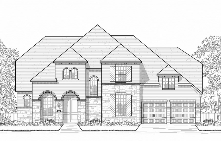 Highland Homes Plan 278 Elevation B in Hollyhock