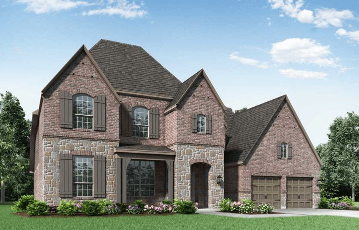 Highland Homes Plan 276 Elevation E in Hollyhock