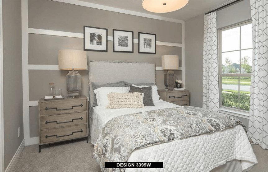 Perry Homes Model Bedroom 1 in Hollyhock