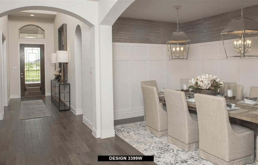 Perry Homes Model Dining Room in Hollyhock