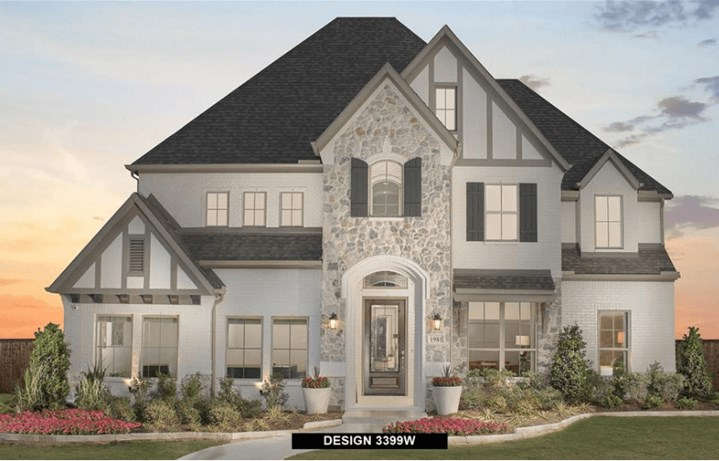 Perry Homes Model Front Elevation in Hollyhock