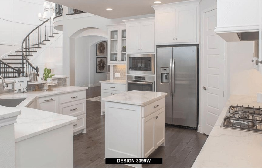 Perry Homes Model Kitchen 1 in Hollyhock