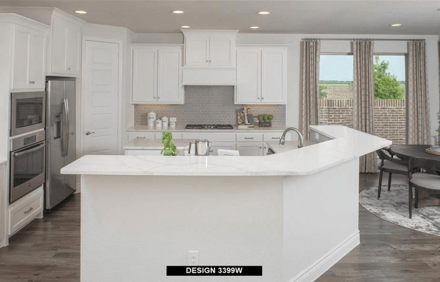 Perry Homes Model Kitchen in Hollyhock