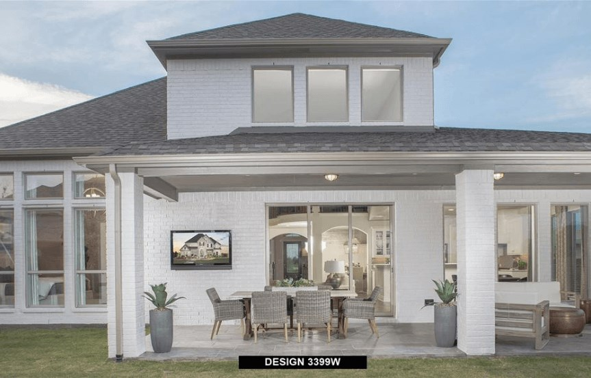 Perry Homes Model Rear Elevation in Hollyhock