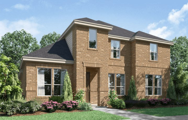 Landon Homes Plan 115 Elevation A in Hollyhock