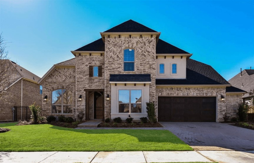 Coventry Homes 1737 Peppervine Plan 3630 Exterior Elevation in Hollyhock