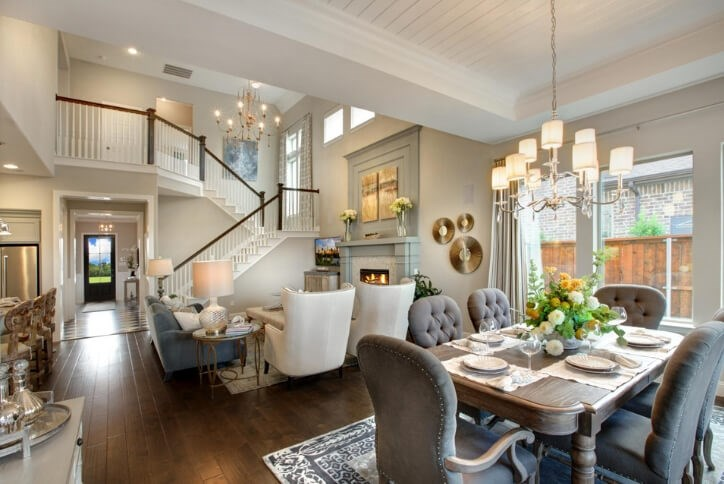 Drees Custom Homes Family Room Model | Hollyhock in Frisco, TX